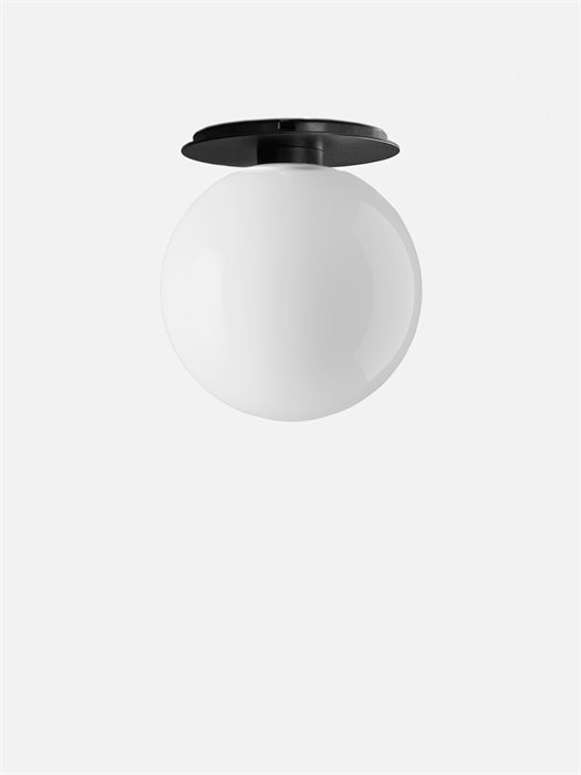 TR Bulb Ceiling/Wall Lamp, Black w Shiny Bulb fra Menu
