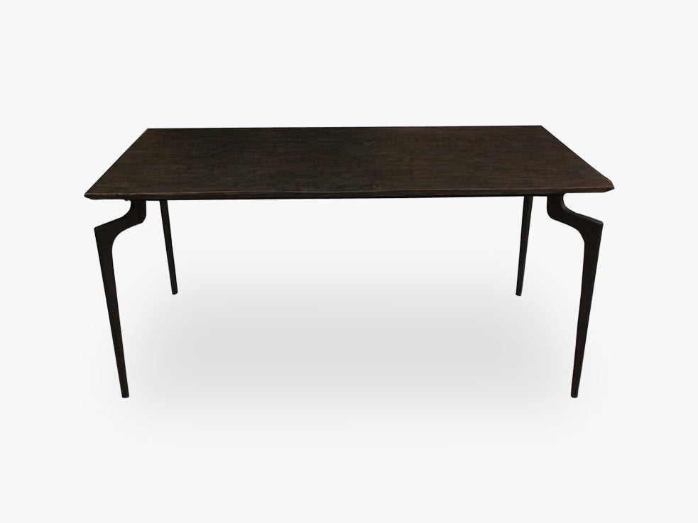 Dining table,wooden w/metal legs, large fra Nordal