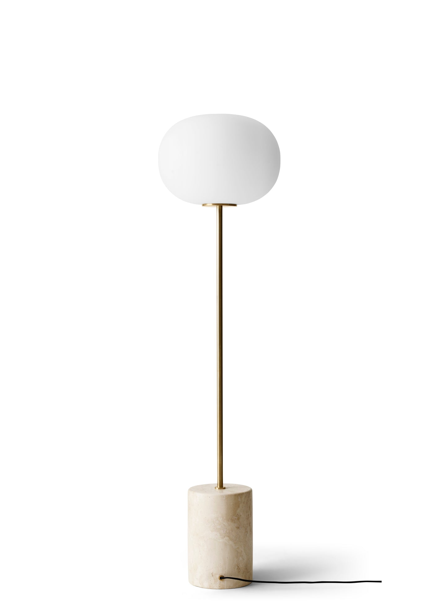 JWDA Floor Lamp, Travertine/Brushed Brass fra Menu