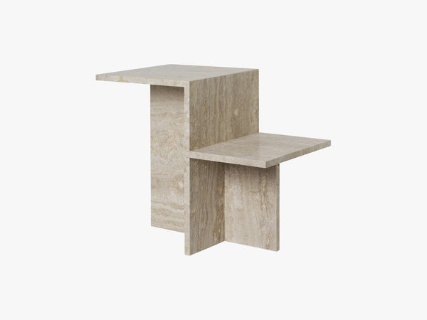 Distinct Side Table, Travertine fra Ferm Living