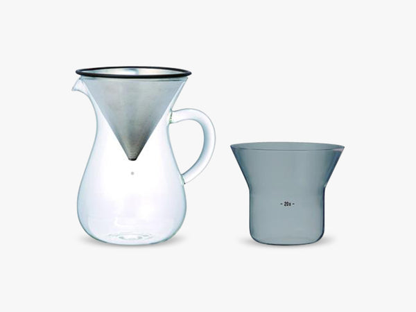 SCS-02-CC-ST coffee carafe set, 300ml stainless steel fra KINTO