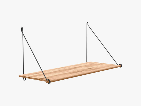 Loop Shelf, Black Steel Mounting Bracket fra We Do Wood