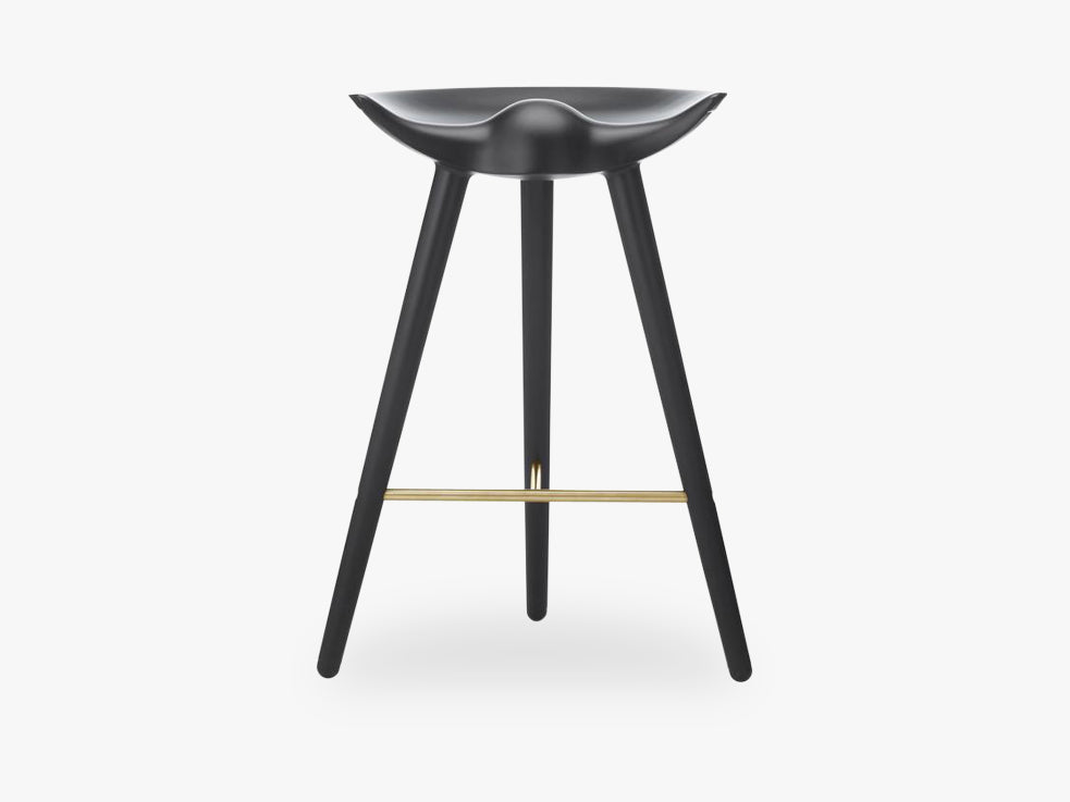 ML 42, counter stool, black stained beech / brass fra By Lassen