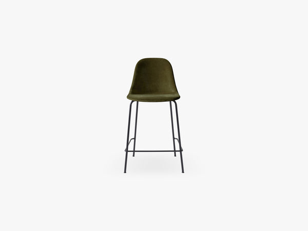 Harbour Side Chair - Counter, Black Steel Base, City Velvet CA7832/031 fra Menu