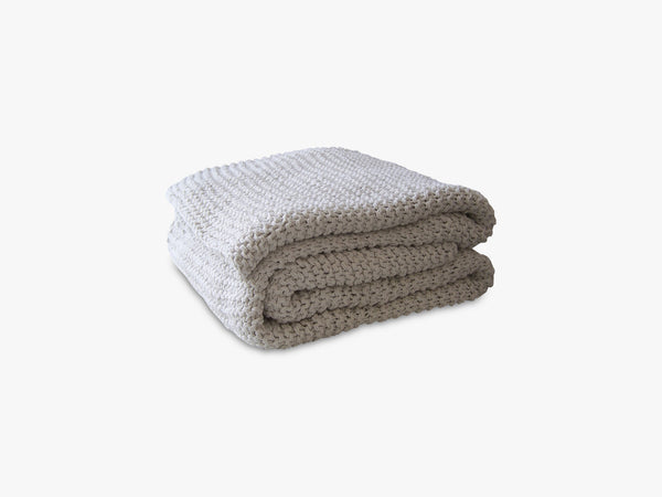 Knitted blanket - Offwhite fra Tell Me More