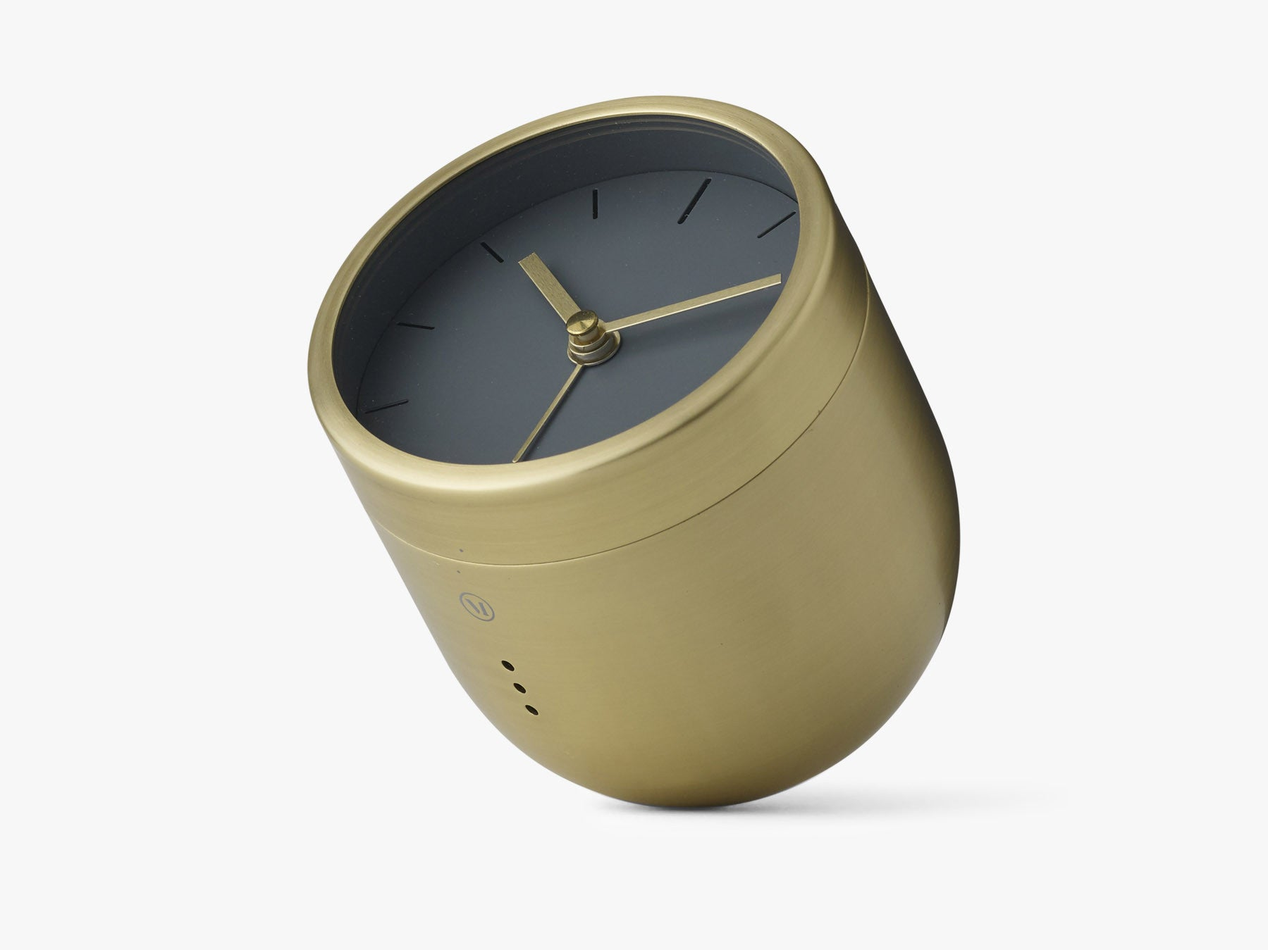 Norm Tumbler Alarm Clock - Brushed Brass fra Menu