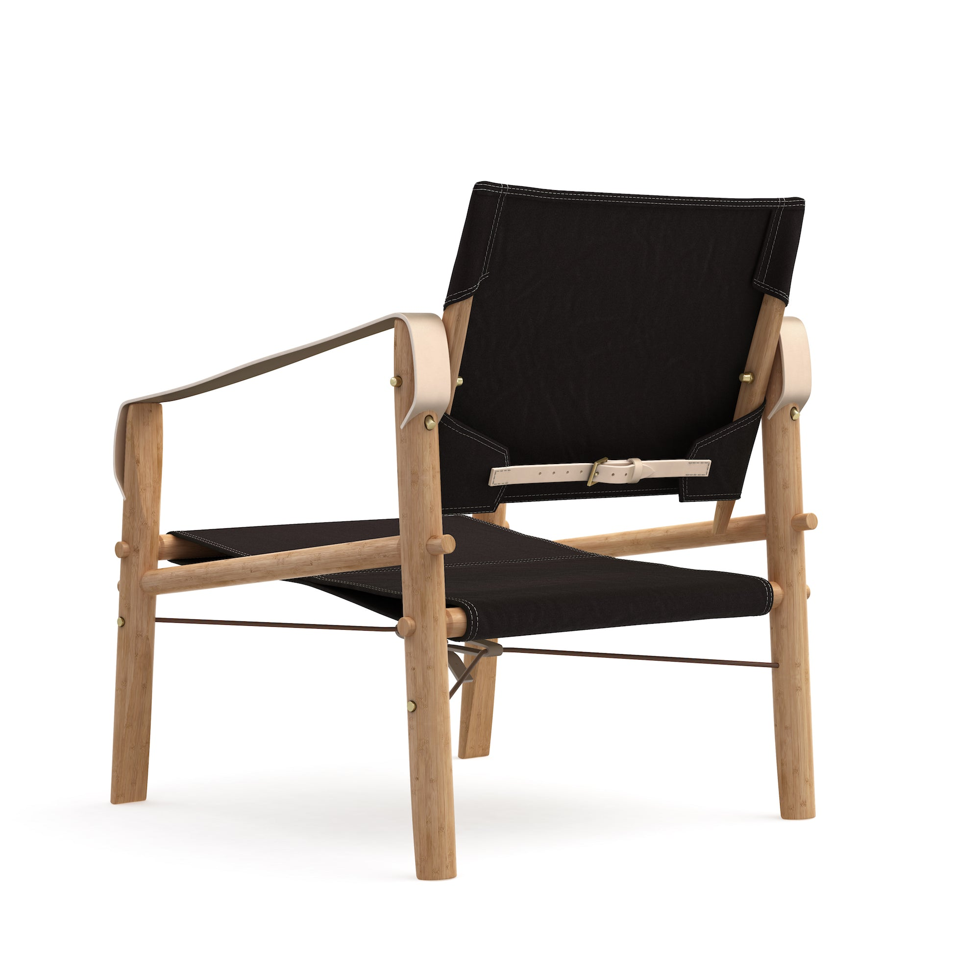 Nomad Chair, Black linen canvas fra We Do Wood