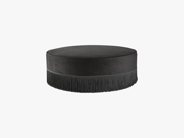 Low soft fringe pouf, Grey fra NTER