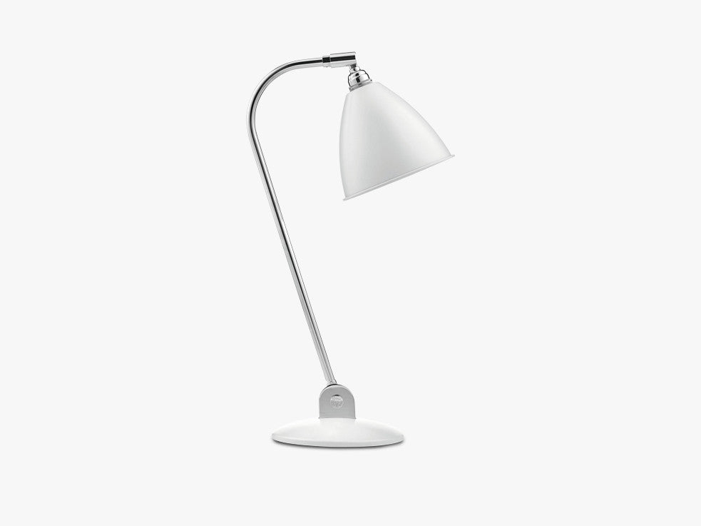 Bestlite BL2 Table Lamp - Ø16 - Crome Base, Matt White fra GUBI