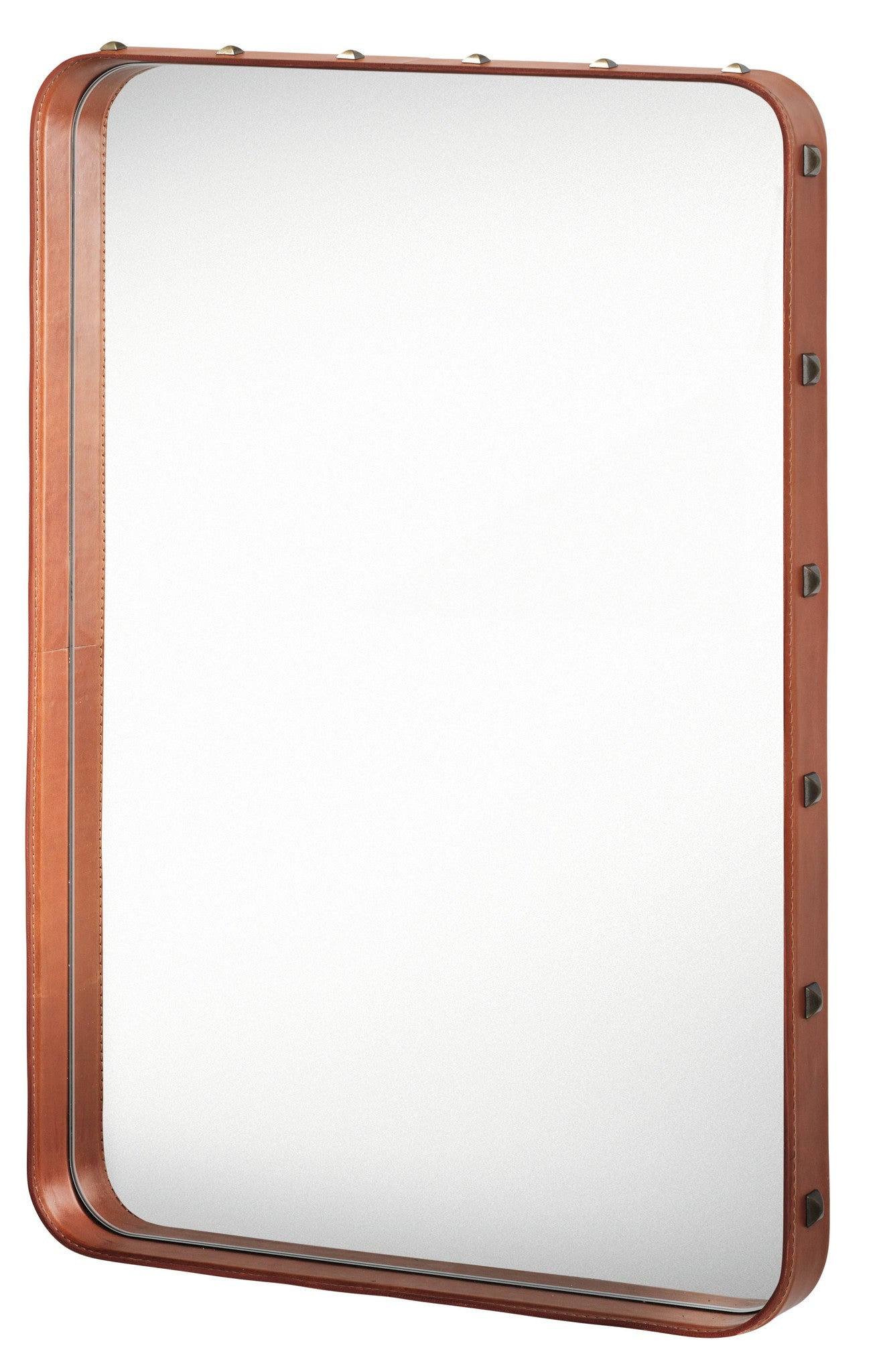 Adnet Wall Mirror - Rectangular, Tan fra GUBI