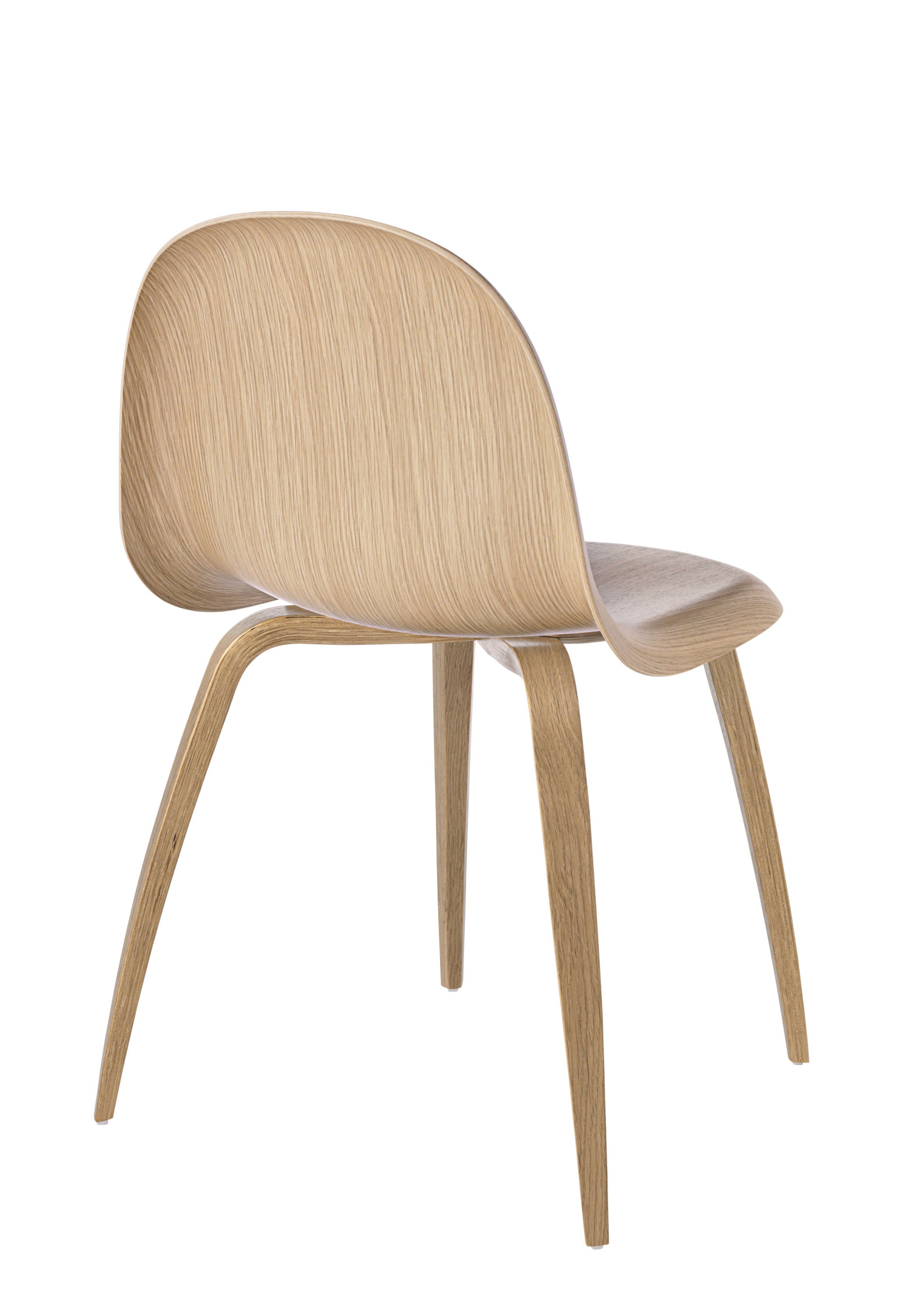 3D Dining Chair - Un-upholstered Oak base, Oak shell fra GUBI