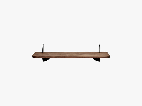 AEDES shelf walnut/black, small fra AYTM