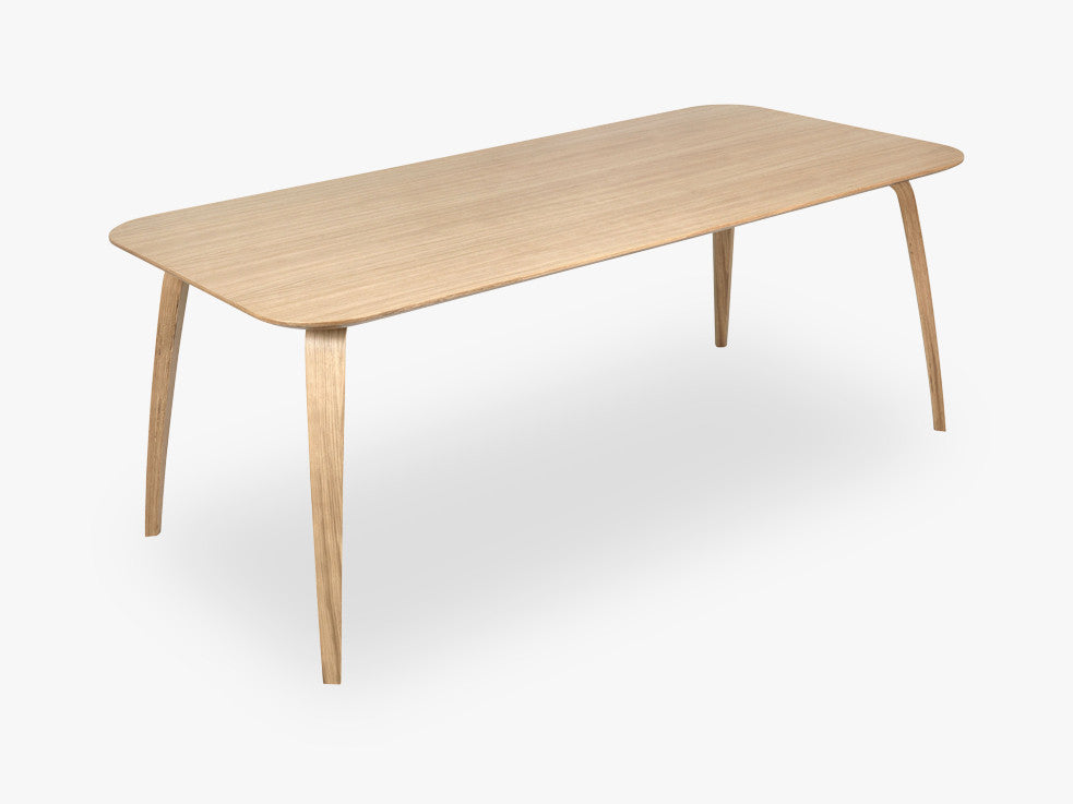 GUBI Dining Table - Rectangular - 100x200, Oak base,Oak top fra GUBI