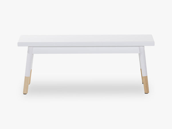 Bench, White, MDF fra Bloomingville