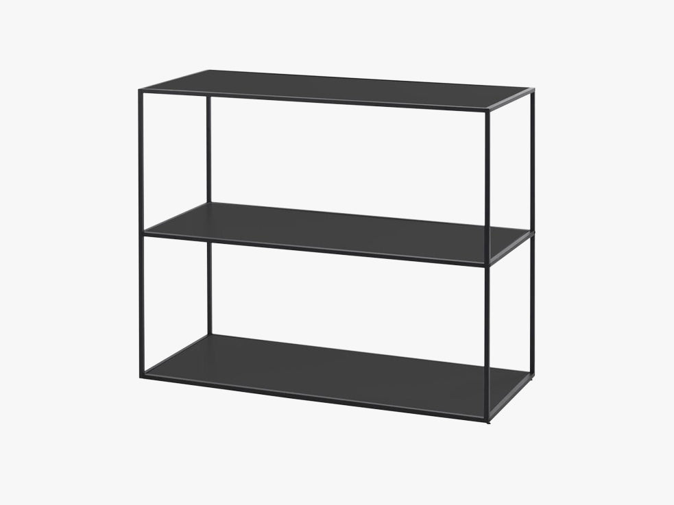 Twin bookcase small, black fra By Lassen