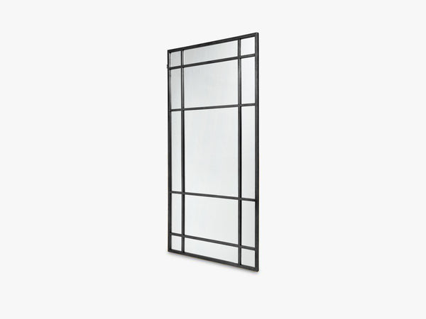 SPIRIT Iron wall mirror, black fra Nordal