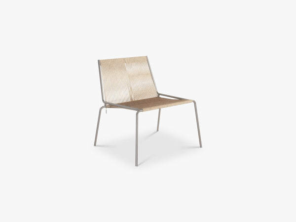 Noel Lounge Chair, Steel/Nature fra Thorup Copenhagen