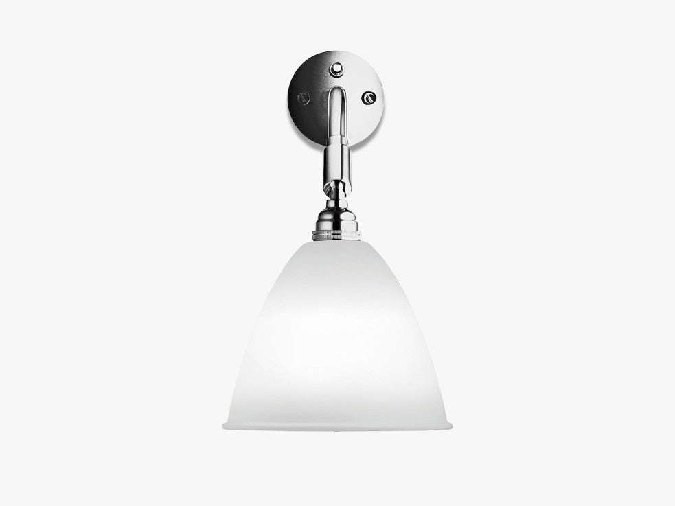 Bestlite BL7 Wall Lamp - Ø16 - Crome Base, Bone China fra GUBI
