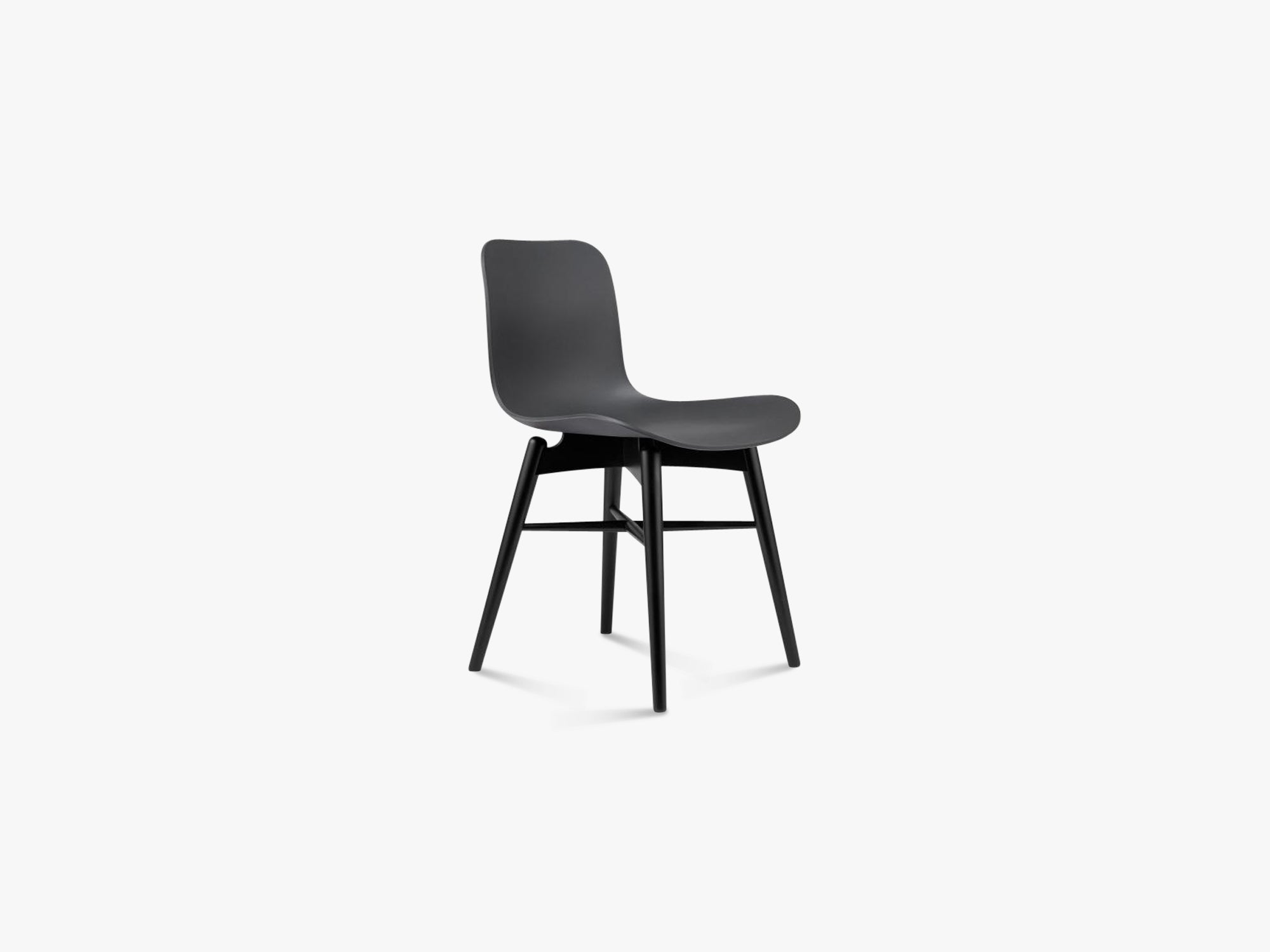 Langue Chair Wood, Black/Anthracite Black fra NORR11