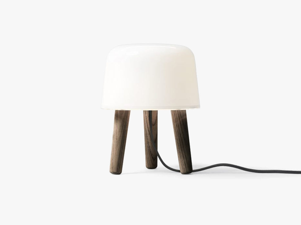 Milk Table Lamp - NA1, Smoked oiled legs & black cord fra &tradition