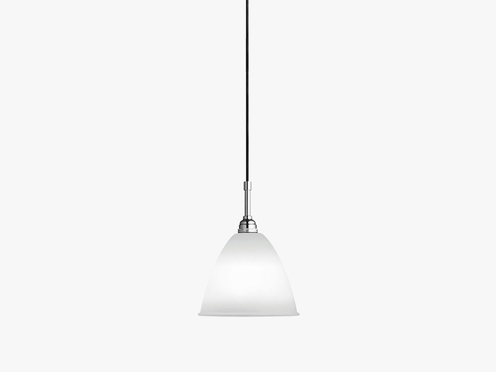 Bestlite BL9 Pendant, Crome Base, Bone China fra GUBI