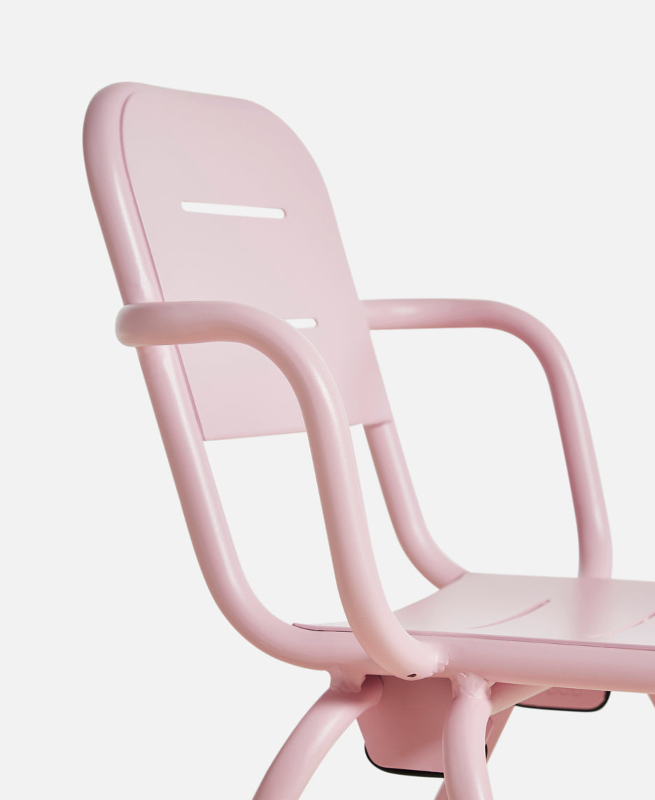 Ray Café armchair, Rose Pink fra WOUD