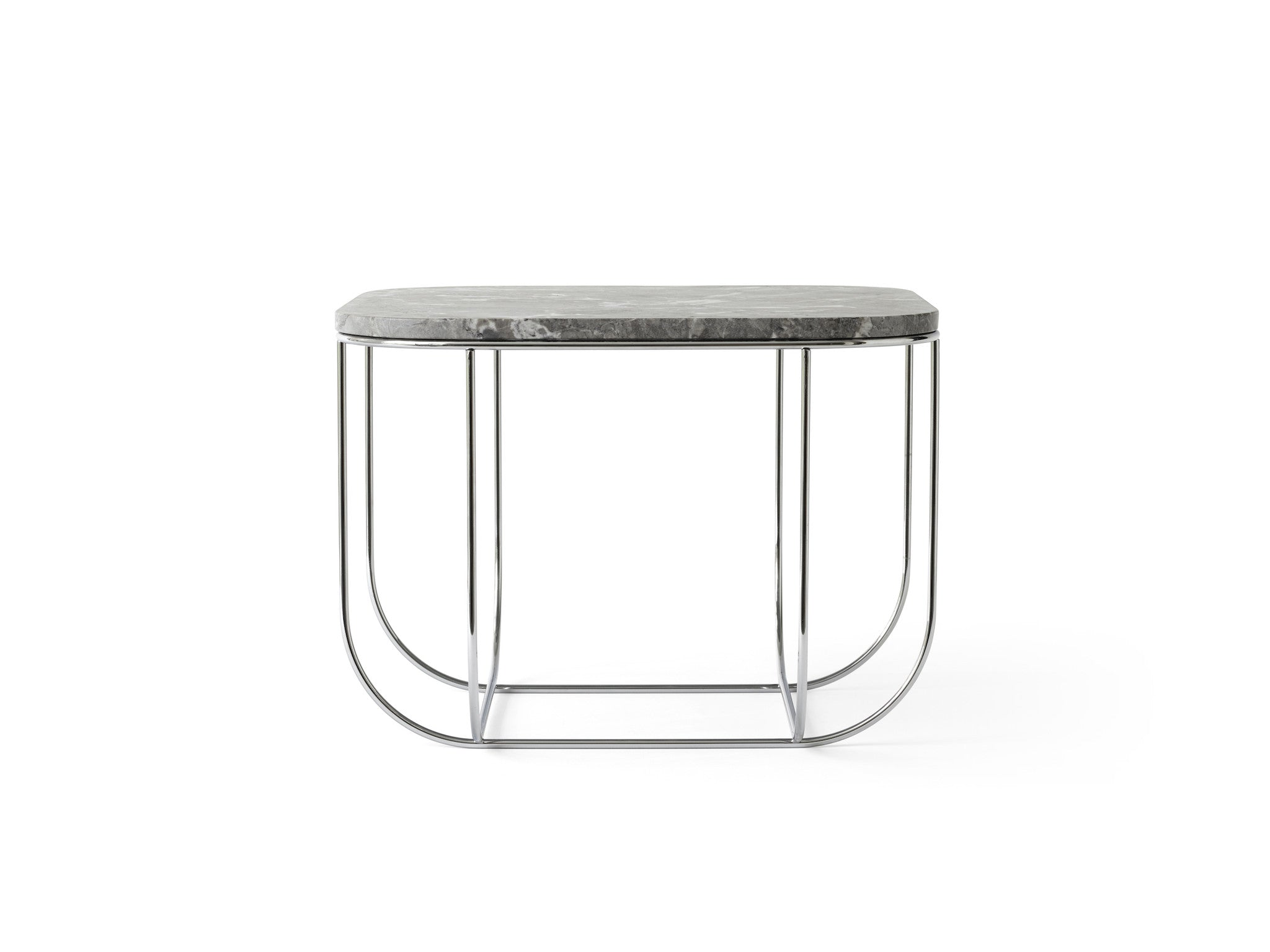 Fuwl Cage Table - Chrome/Grey Marble fra Menu
