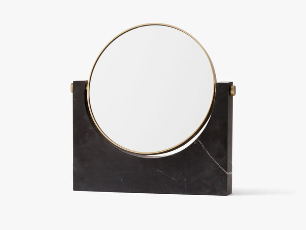 Pepe Marble Mirror, Brass/Black fra Menu