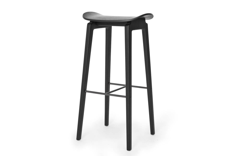 NY11 Bar Stool High, Black/Black fra NORR11