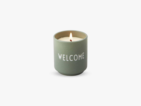Scented Candle, Green Welcome fra Design Letters