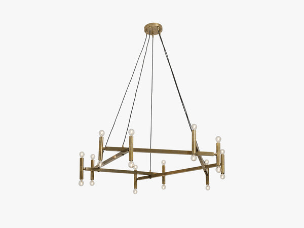 Chandelier, brass f/20 lights fra Nordal