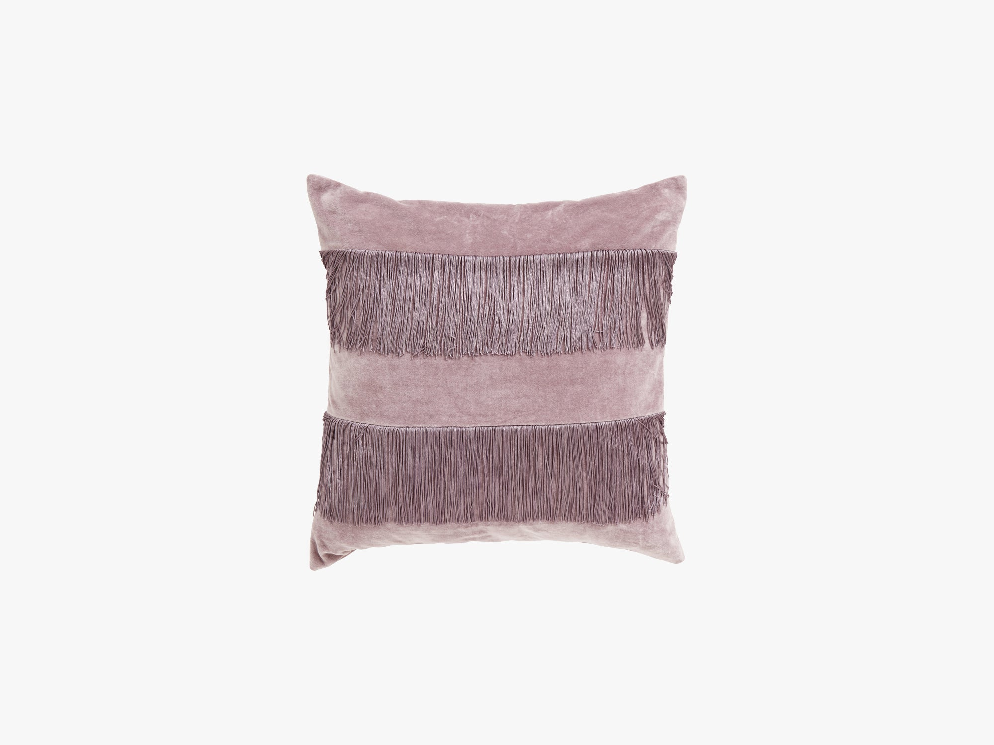 Cushion cover w/fringes, lpurple fra Nordal