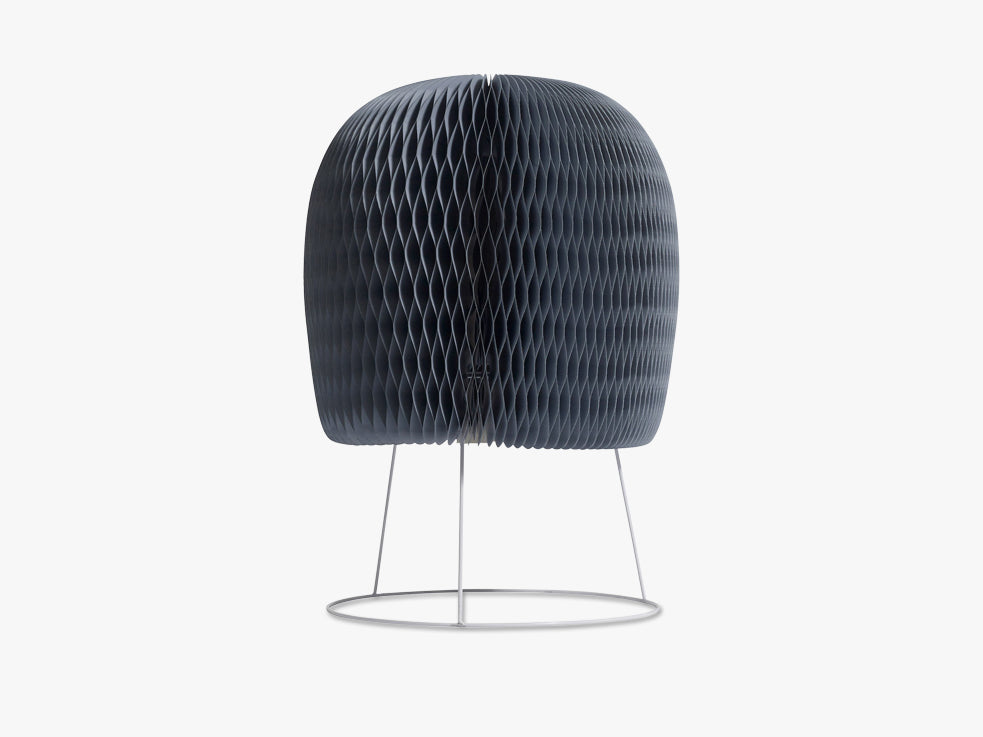 Fluffy table lamp, dusty blue paper fra Nordal