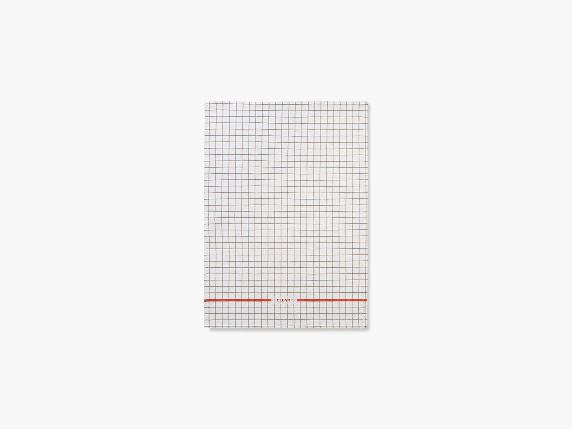 Ren viskestykke Grid, Sand/spicy orange fra Normann Copenhagen