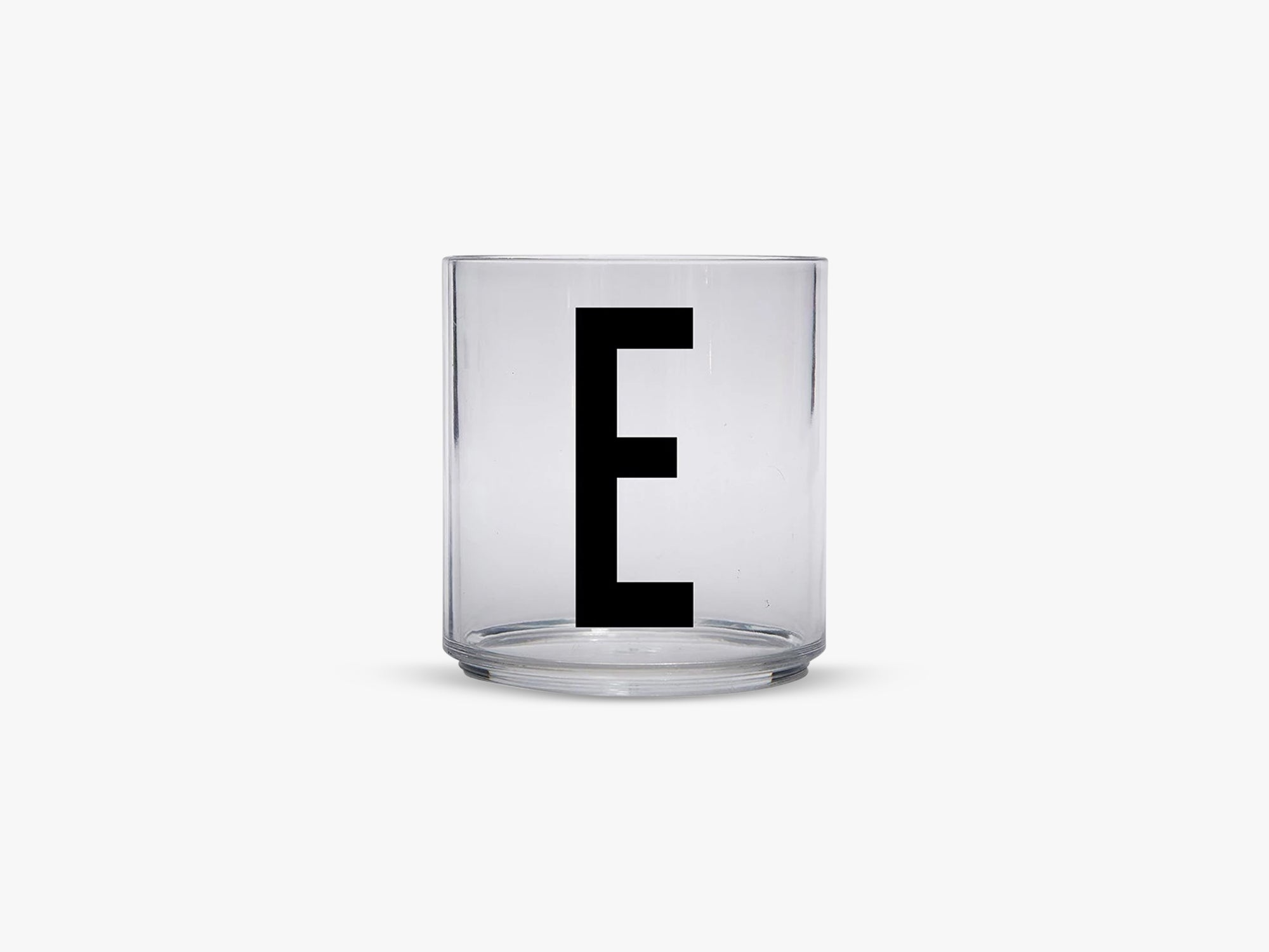 Kids personal drinking glas A-Z, E fra Design Letters
