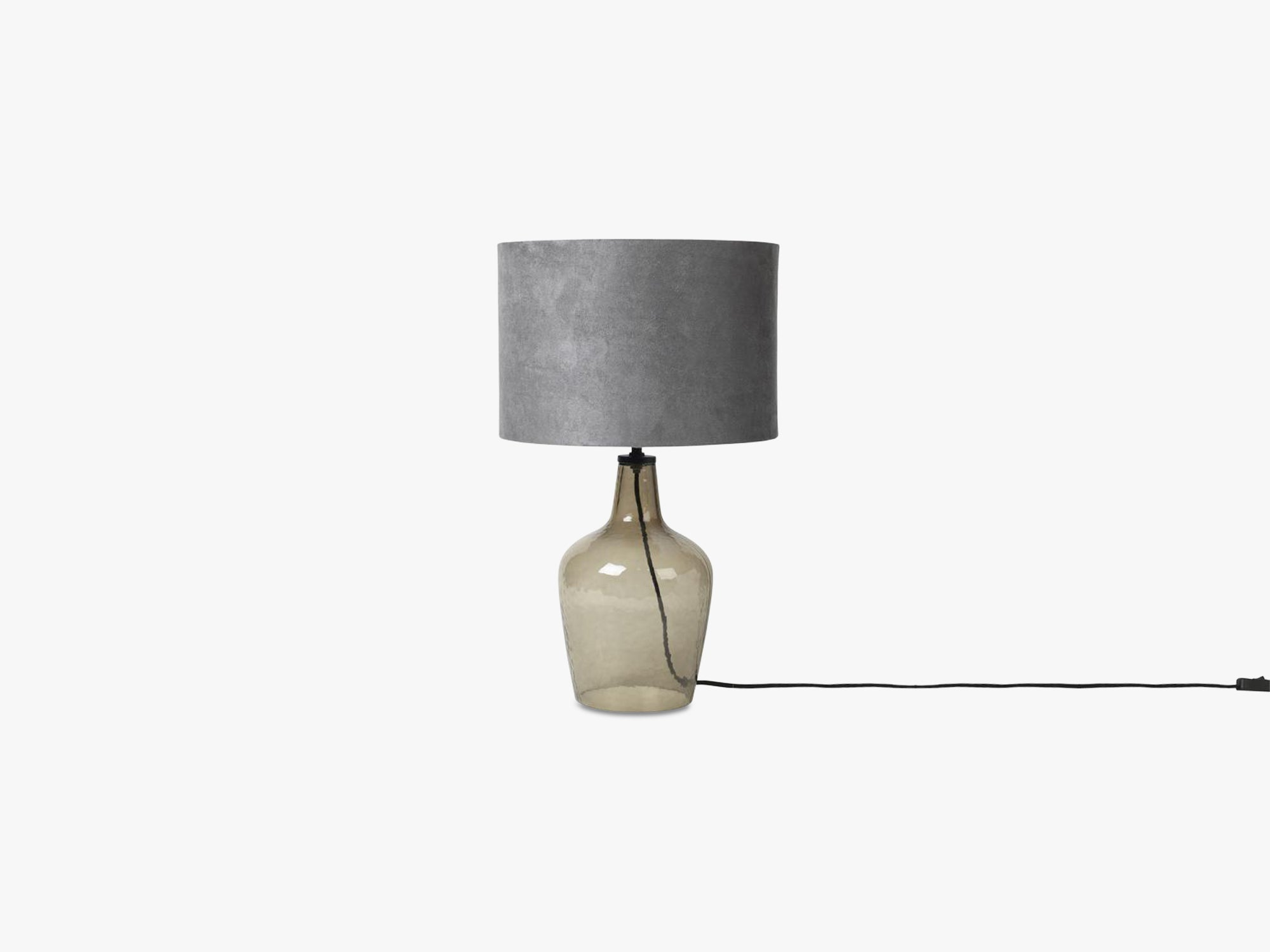 Bordlampe Clarise Glas, metal/poly black/grey shade fra Broste Copenhagen