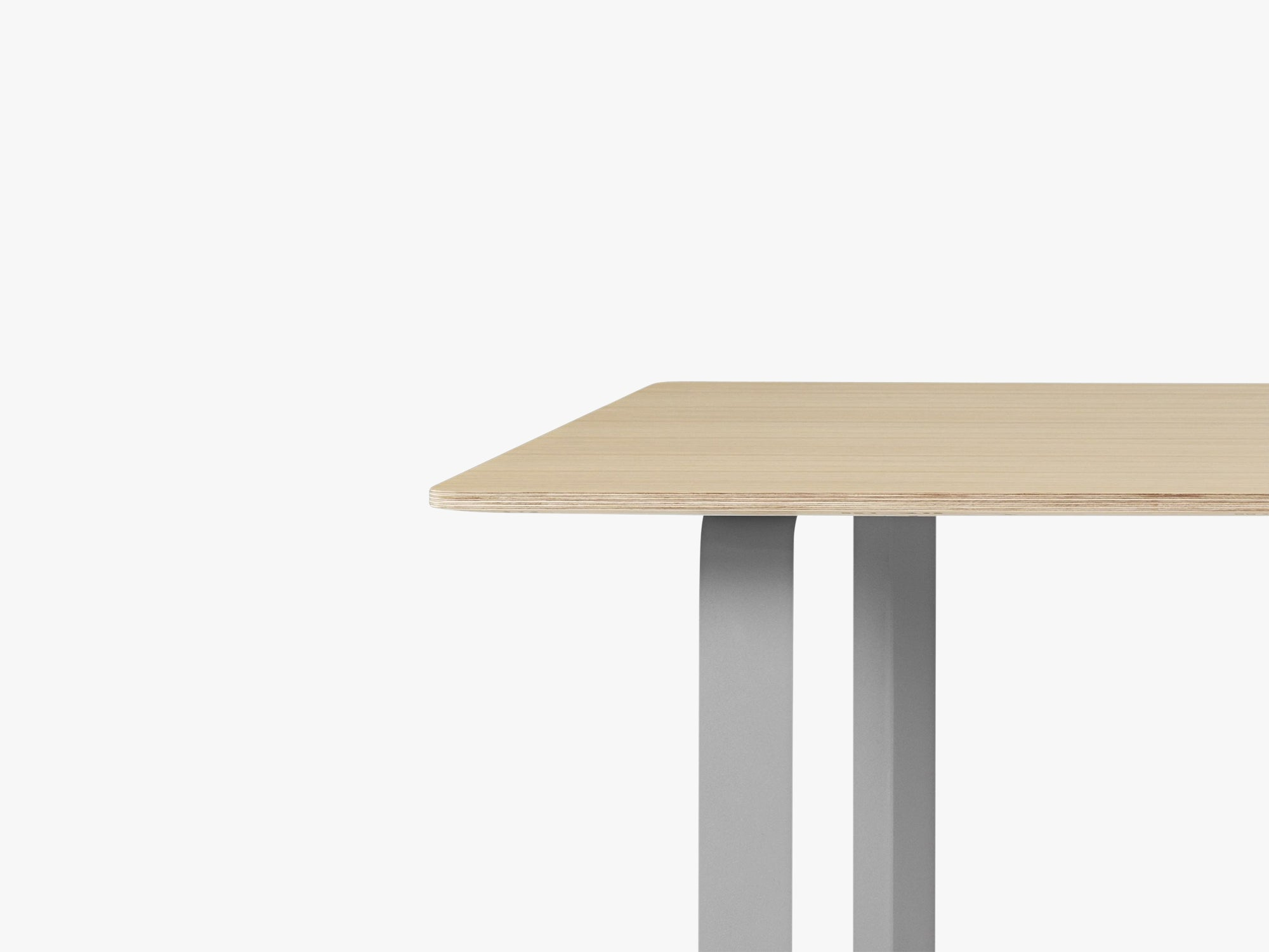 70-70 Table - Small, Oak/Grey fra Muuto