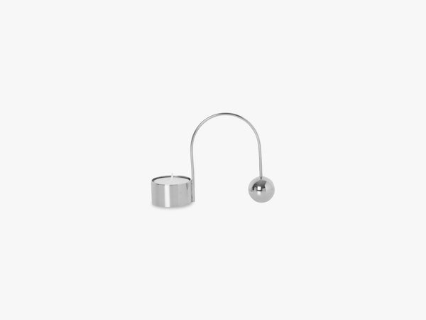 Balance Tealight Holder, Chrome fra Ferm Living