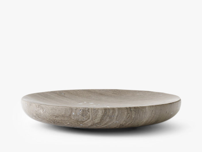 Hover, Bowl, Large, Honed Brown Marble fra Menu