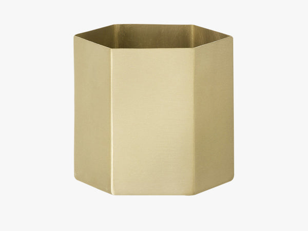 Hexagon Pot - Large, Messing fra Ferm Living