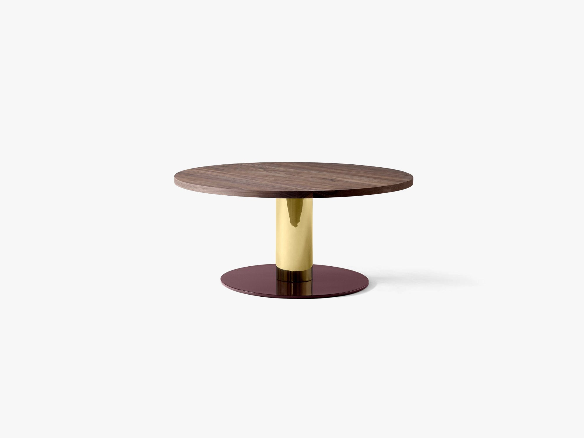 Mezcla - JH20, Brass/Walnut - Lounge table fra &tradition