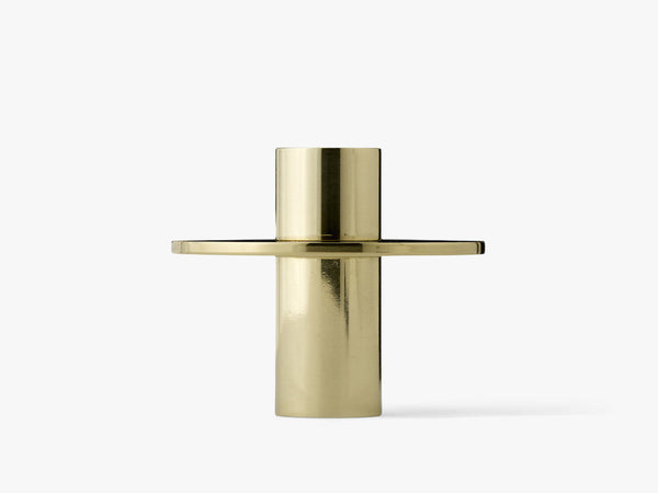 Antipode Candle Holder 02, Mirror Polished Brass fra Menu