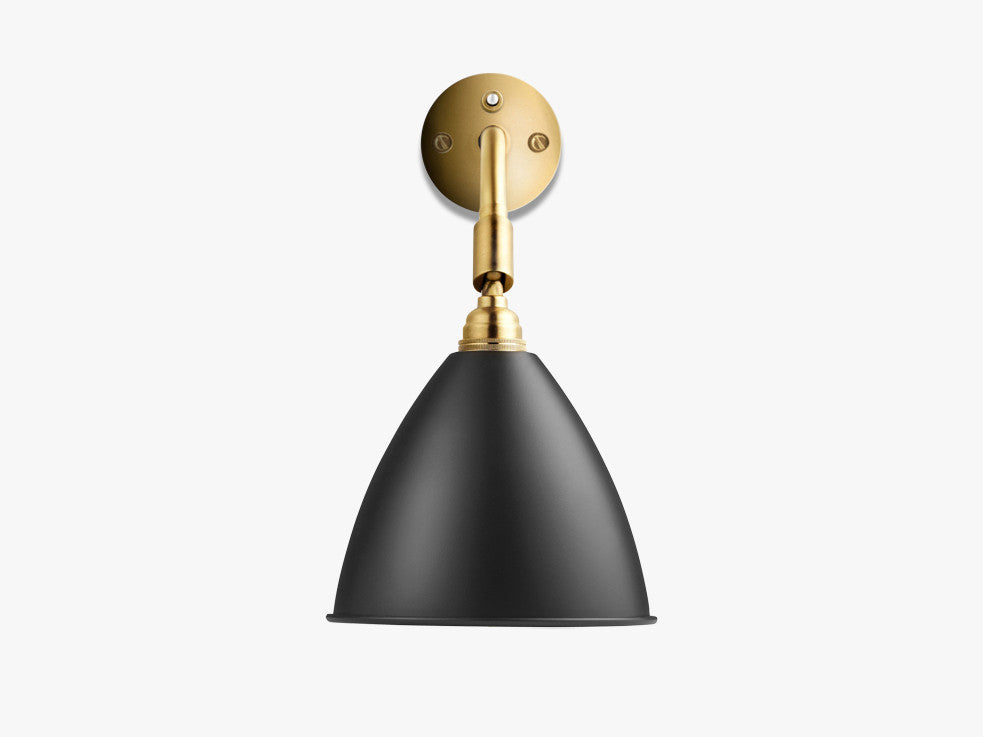 Bestlite BL7 Wall Lamp - Ø16 - All Brass, Charcoal Black fra GUBI