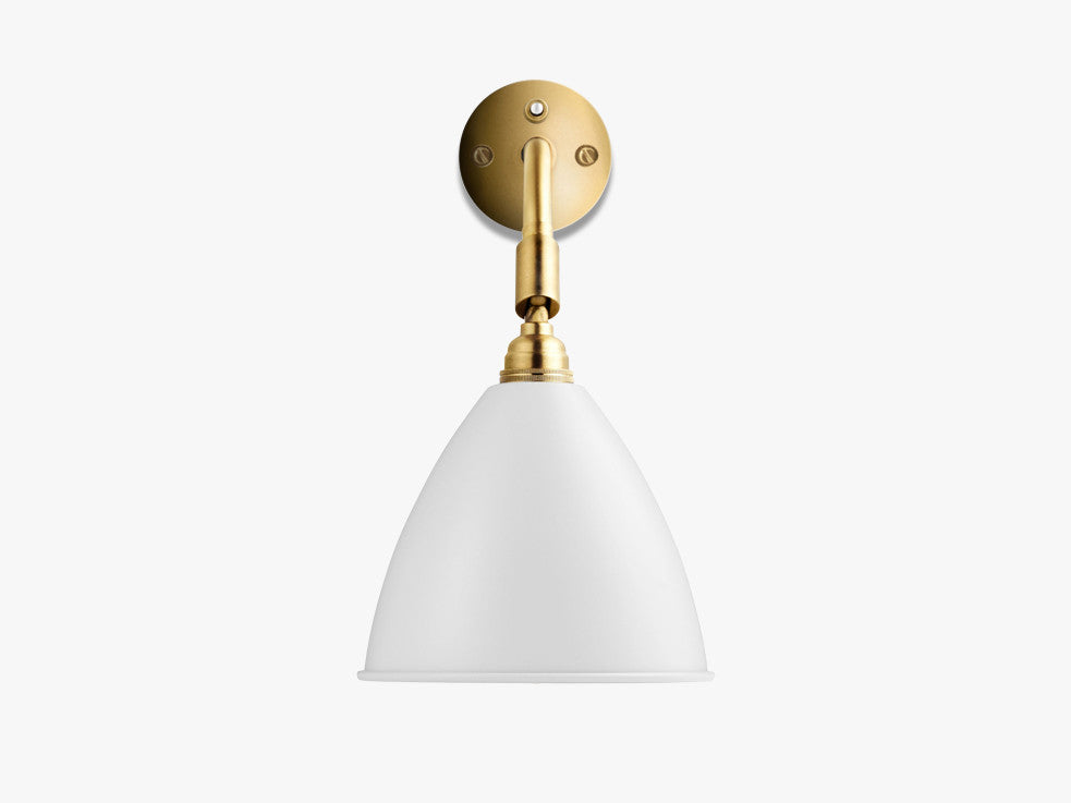 Bestlite BL7 Wall Lamp - Ø16 - All Brass, Matt White fra GUBI
