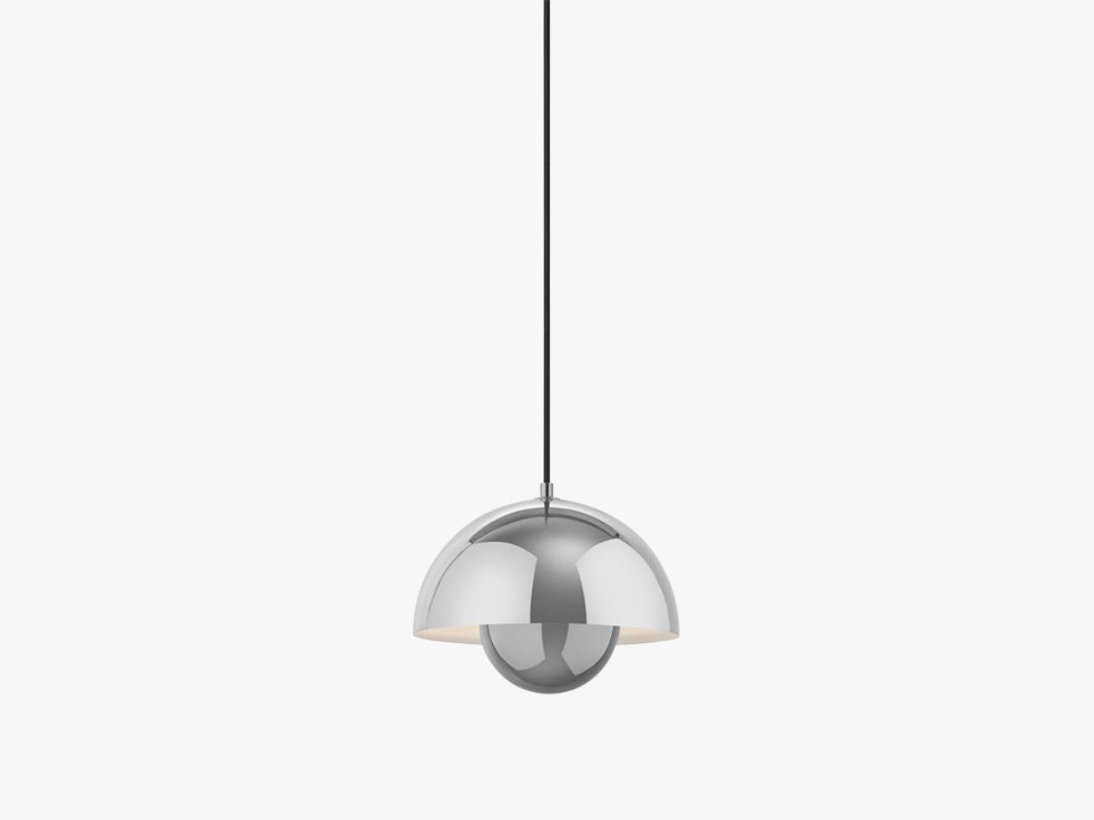 Flowerpot Pendant - VP1, Polished Stainless Steel fra &tradition