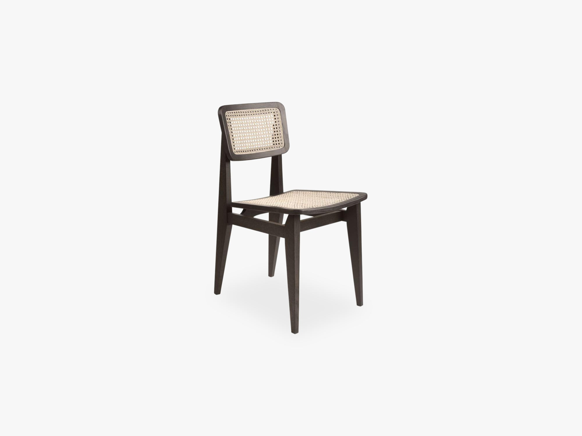 C-Chair Dining Chair - All French Cane, Brown/Black Stained Oak Lacquered fra GUBI