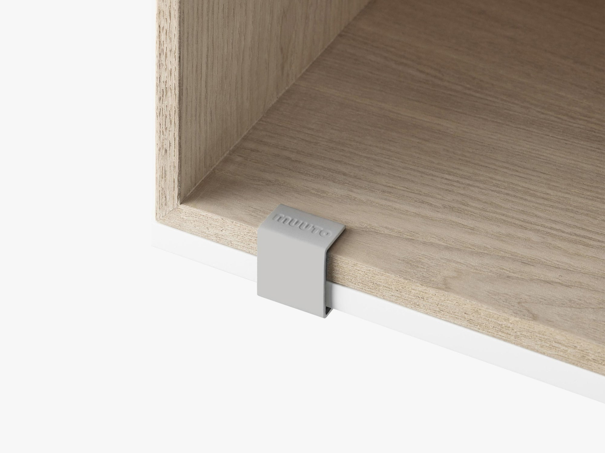Mini Stacked Storage System / Clips Set, Light Grey fra Muuto