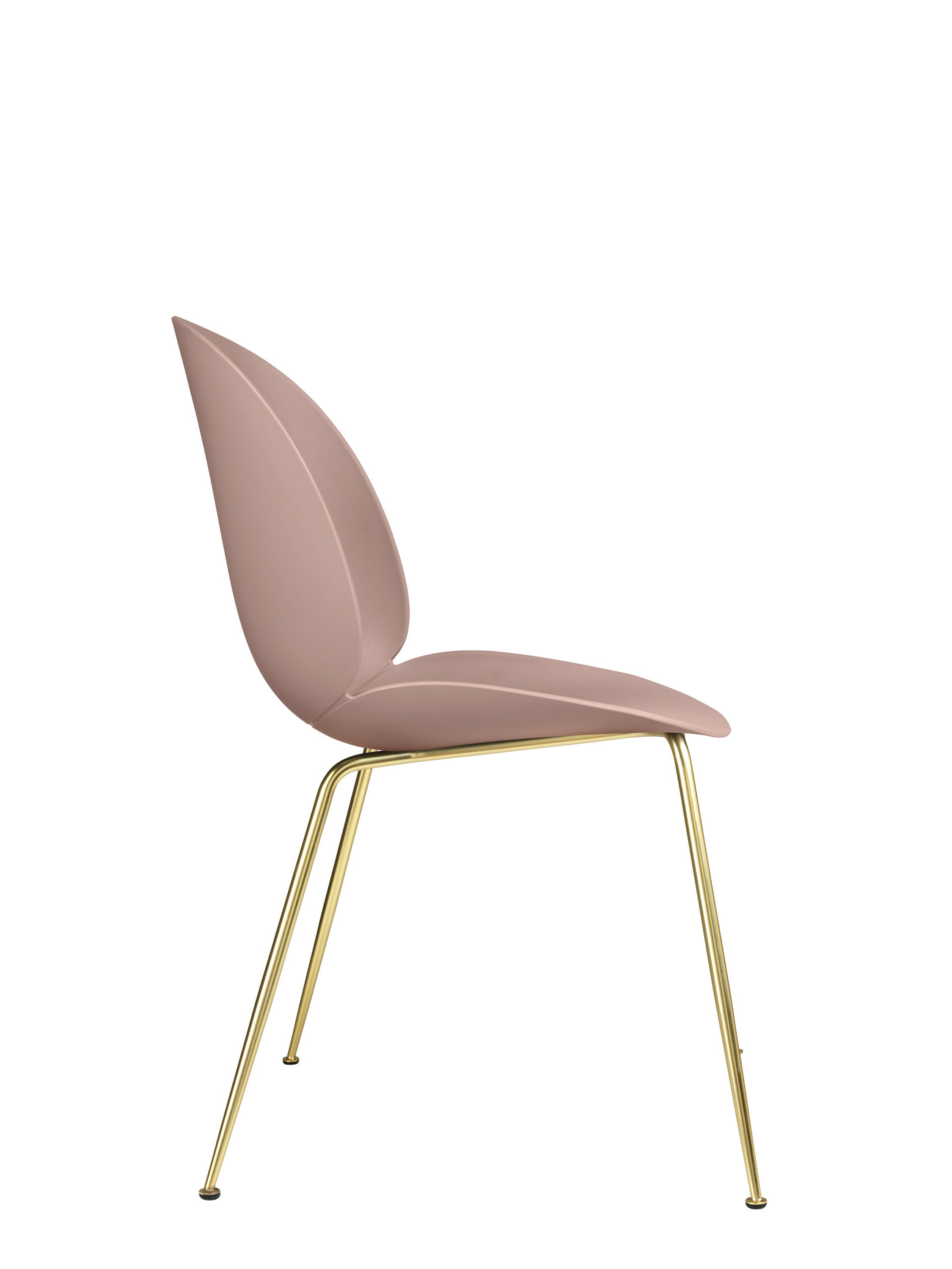 Beetle Dining Chair - Un-upholstered Conic Brass base ...