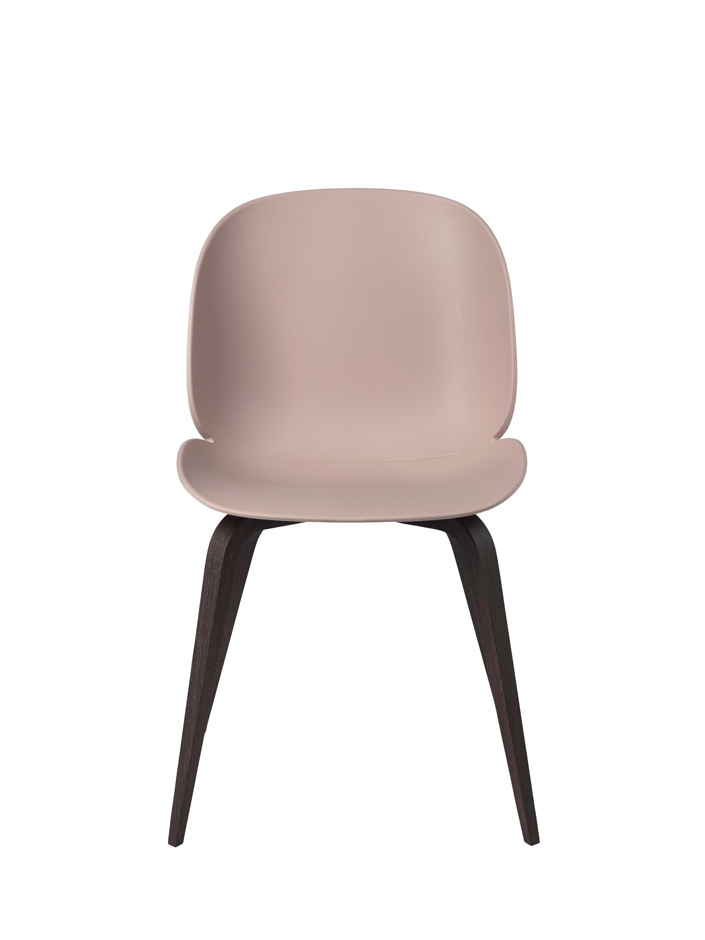 Beetle Dining Chair - Un-upholstered Smoked Oak base, Sweet Pink shell fra GUBI