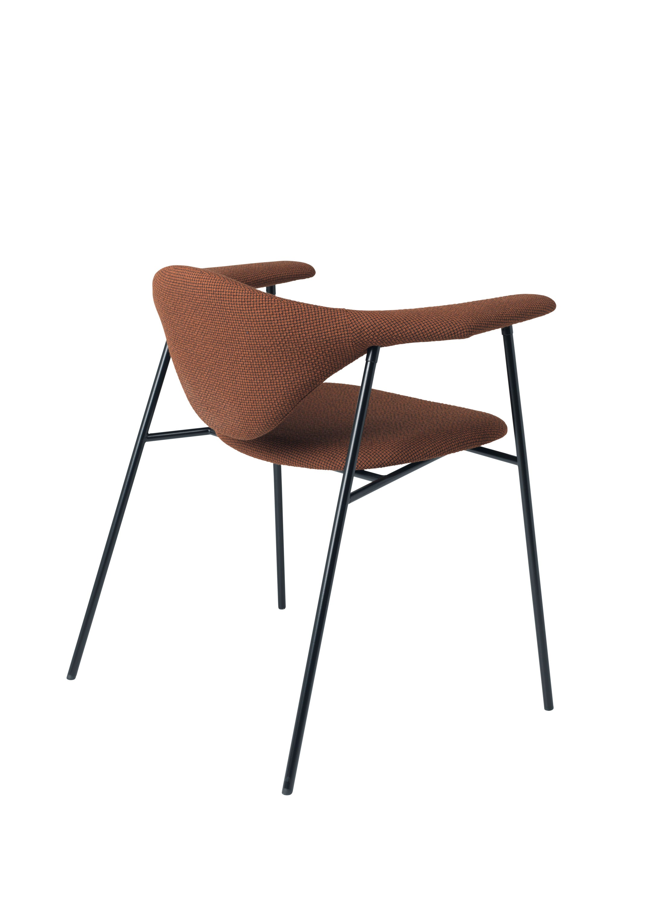 Masculo Dining Chair -  Fully Upholstered - Black base, Colline 568 fra GUBI